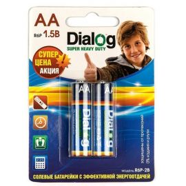 Батарейка AA Dialog R6P Super Heavy Duty (упаковка 2 шт.)