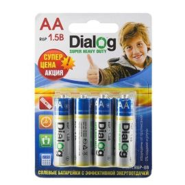 Батарейка AA Dialog R6P Super Heavy Duty (упаковка 8 шт.)